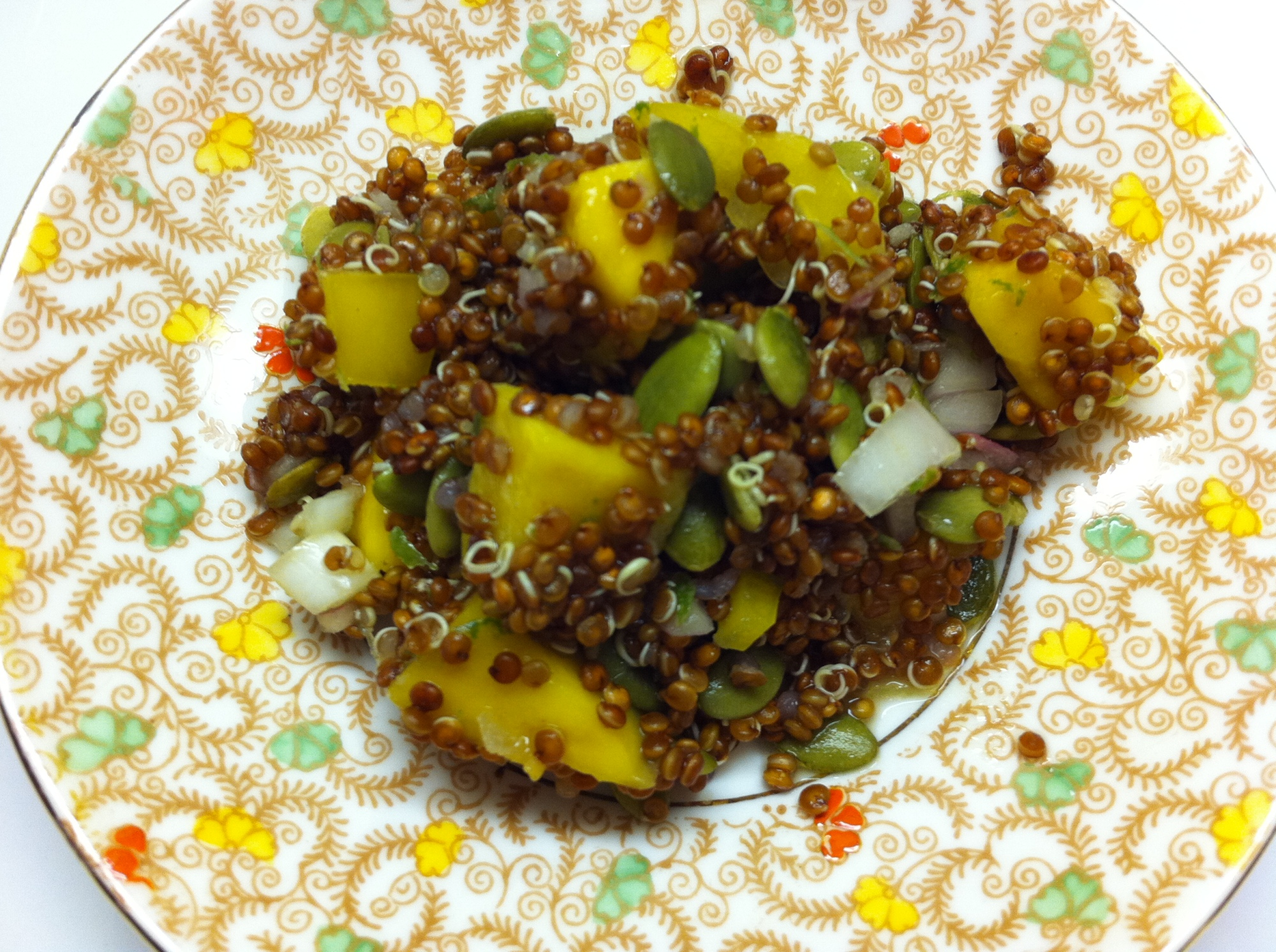Red Quinoa Salad with Mango