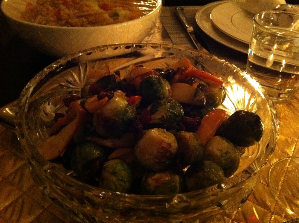 Roasted Brussel Sprouts with Apples