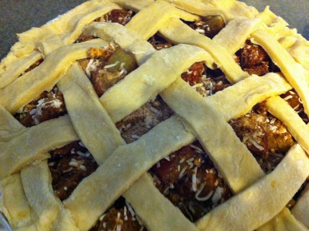 Vegan Rhubarb Coconut Pie