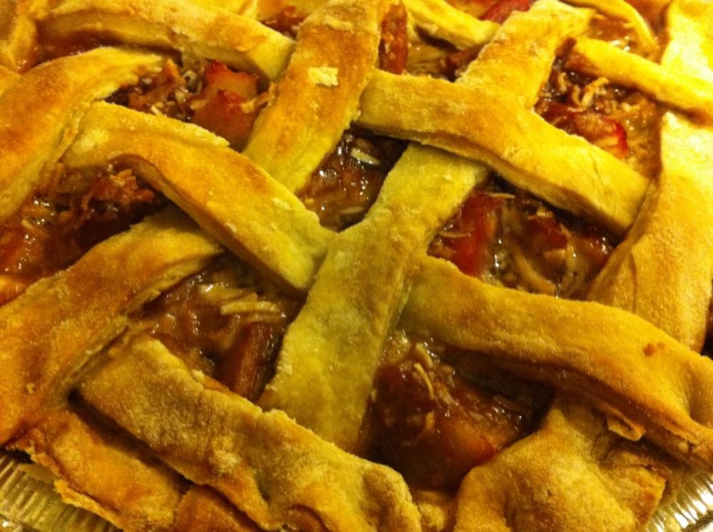 Vegan Coconut Rhubarb Pie