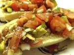 Pecan Avocado Bruschetta