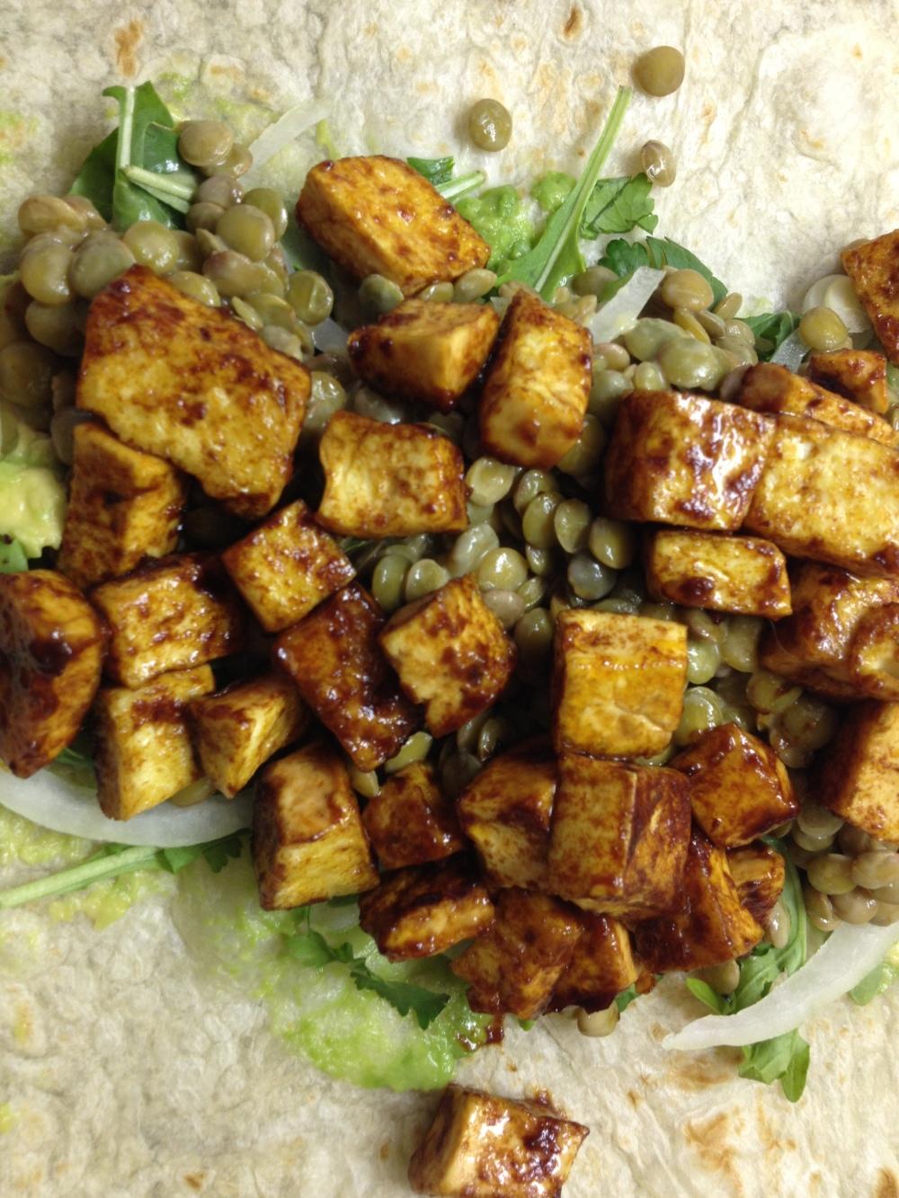 BBQ Tofu Wraps