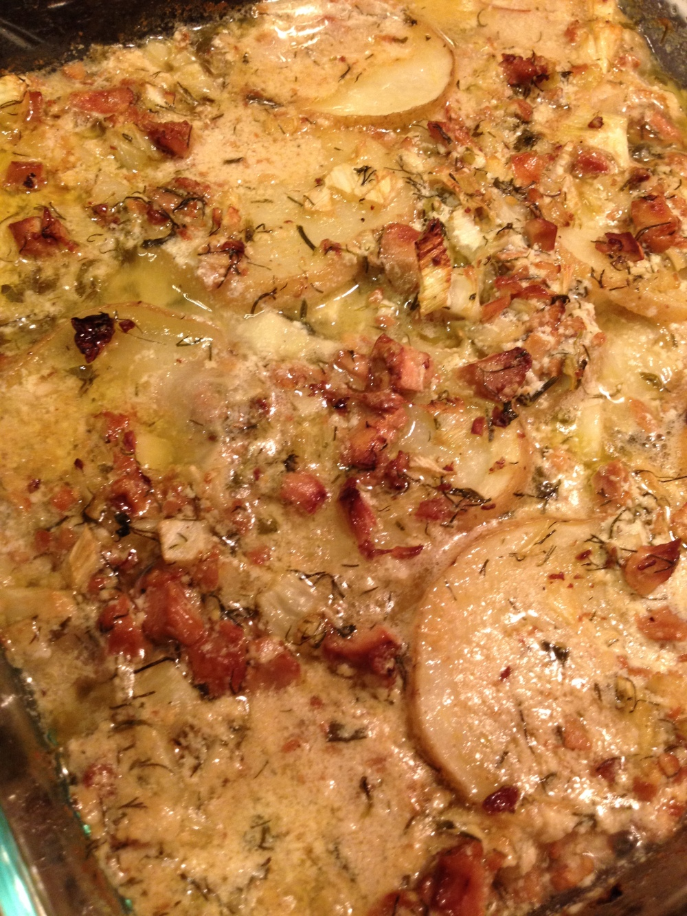 Scalloped Potatoes with Chanterelle Cream Sauce