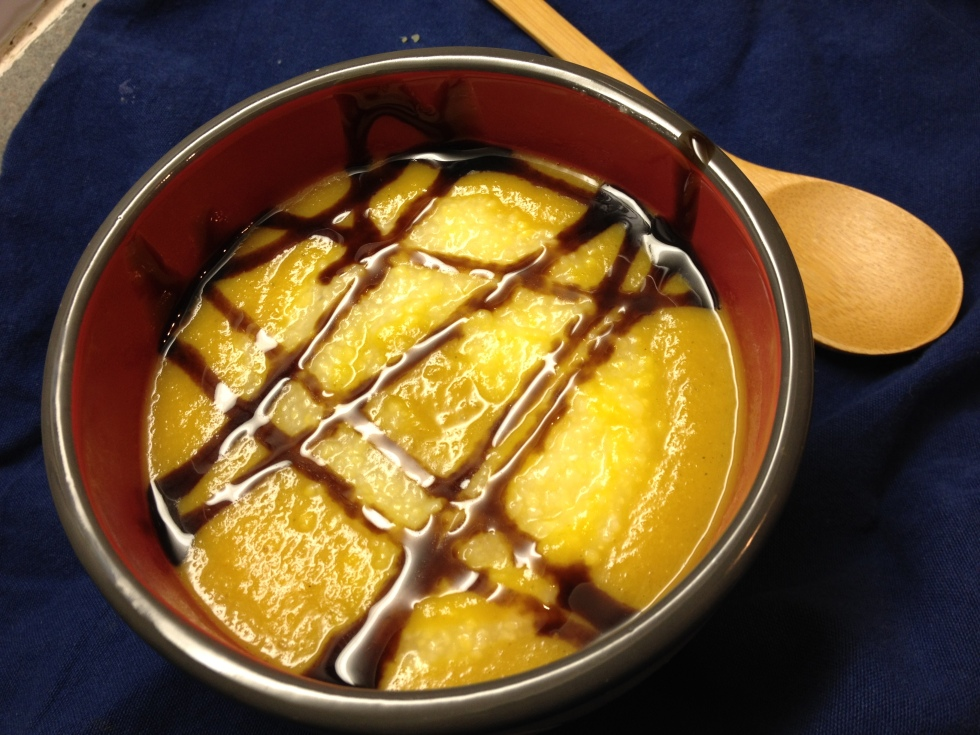 Yellow Beet Soup with Polenta