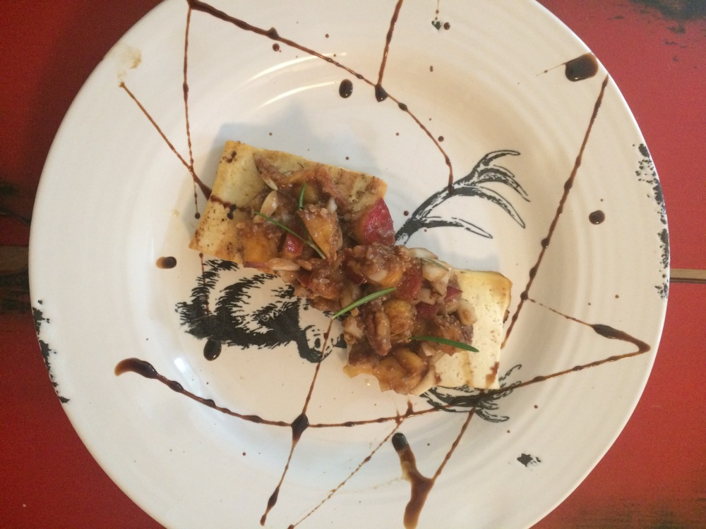 Nectarine Bruschetta over Grilled Tofu
