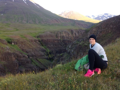 Lindsay in Iceland