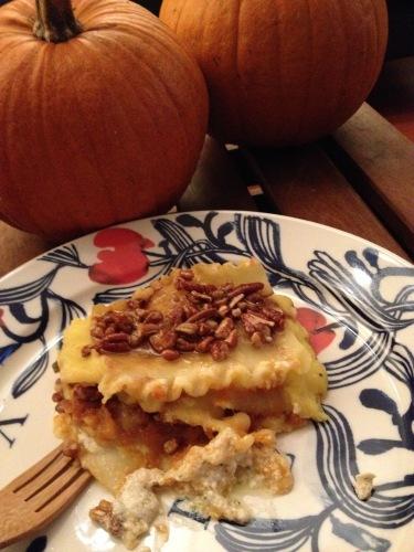 Vegan Pumpkin Lasagna
