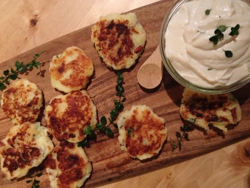 Oregano Sweet Potato Latkes
