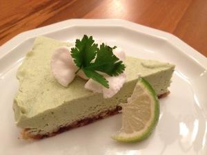 Lime Cilantro Avocado Cheesecake